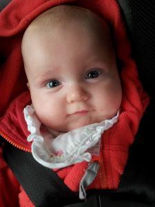 Eloise 5 months in car